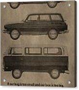 Volkswagen Advertisement Acrylic Print