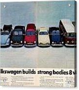 Volkswagen Builds Strong Bodies Eight Ways Acrylic Print