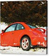 Volkswagen Snow Day Acrylic Print