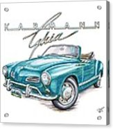 Volkswagon Karmann Ghia Acrylic Print