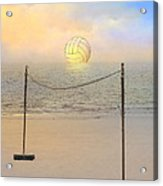 Volleyball Sunset Acrylic Print