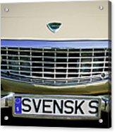 Volvo Grille Emblem -0198c Acrylic Print