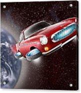 Volvo P1800 Goes Back To The Future Acrylic Print