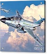 Voodoo In The Clouds - F-101b Voodoo Acrylic Print