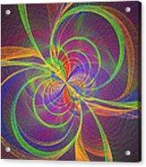 Vortex Abstract Digital Fractal Flame Art Acrylic Print