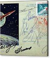 Vostok 1 Commemorative Post Acrylic Print