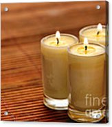 Votive Candle Burning Acrylic Print