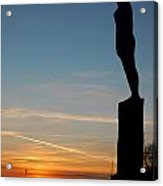 Voyage Statue Hull Colour Acrylic Print by Anthony Bean
