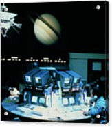 Voyager 1 Mission Control During Saturn Encounter Acrylic Print
