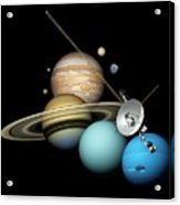 Voyager 2 And Planets Acrylic Print