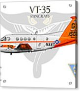 Vt-35 Stingrays Acrylic Print