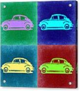 Vw Beetle Pop Art 3 Acrylic Print by Naxart Studio