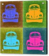 Vw Beetle Pop Art 6 Acrylic Print by Naxart Studio