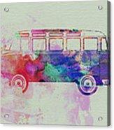 Vw Bus Watercolor Acrylic Print