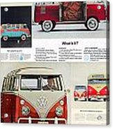 Vw Camper Collage Acrylic Print