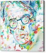 W. B. Yeats  - Watercolor Portrait Acrylic Print