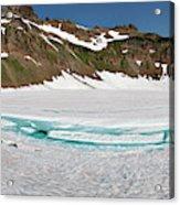 Wa, Goat Rocks Wilderness, Snow And Ice Acrylic Print
