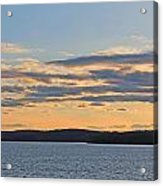 Wachusett Reservoir Sunset Acrylic Print