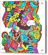 Wackadoo Acrylic Print by Chelsea Geldean