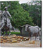 Waco - Branding The Brazos Acrylic Print by Christine Till
