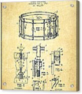 Waechtler Snare Drum Patent Drawing From 1910 - Vintage Acrylic Print