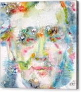 Wagner - Watercolor Portrait Acrylic Print