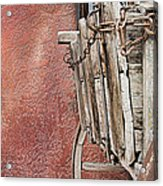 Wagon At The Hacienda Acrylic Print by Robert Bascelli