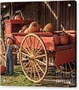 Wagon Full Of Pumpkins Acrylic Print