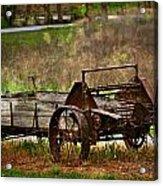 Wagon Acrylic Print by Marty Koch