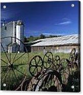 Wagon Wheel Barn Acrylic Print