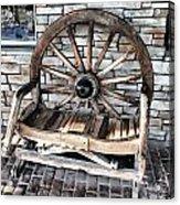 Wagon Wheel Chair Acrylic Print