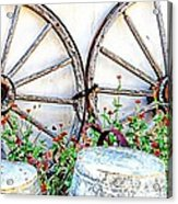 Wagon Wheel Flowers Acrylic Print