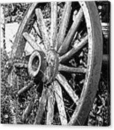 Wagon Wheel - No Where To Go - Bw 01 Acrylic Print