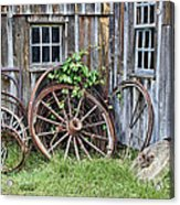 Wagon Wheels In Color Acrylic Print by Crystal Nederman