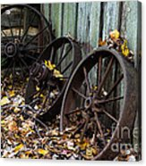 Wagon Wheels Acrylic Print