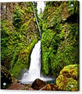 Wahclella Falls In Oregon Acrylic Print