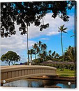 Waialae Beach Park Bridge Too Acrylic Print