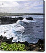 Waianapanapa Pailoa Bay Hana Maui Hawaii Acrylic Print