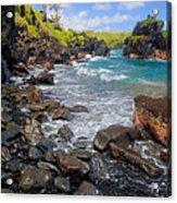 Waianapanapa Rocks Acrylic Print