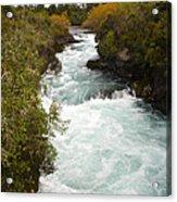 Waikato River Huka Falls Acrylic Print