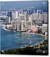 Waikiki Beach Acrylic Print by Eva Kato