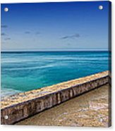 Waikiki Beach Walk Panoramic Acrylic Print