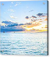 Waikiki Sunset After An Afternoon Thunderstorm Acrylic Print