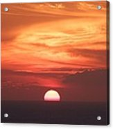 Waikiki Sunset No 2 Acrylic Print