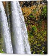 Wailua Falls Up Close Acrylic Print