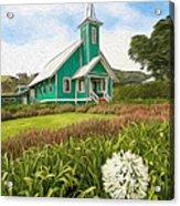 Waimea Church Acrylic Print