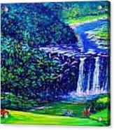 Waimea Falls - Horizontal Acrylic Print by Joseph   Ruff