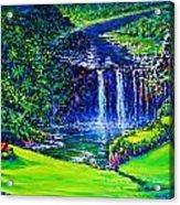 Waimea Falls Lv Acrylic Print by Joseph   Ruff