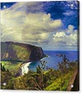 Waipo Valley Lookout-big Island Hawaii Acrylic Print