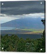 Waipoli Kula View Of West Maui From Haleakala Acrylic Print